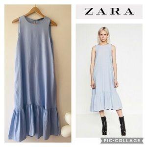 Zara light blue midi dress